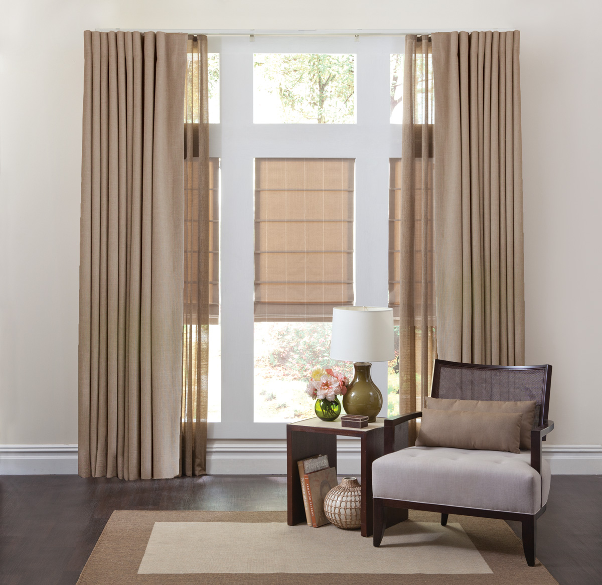 Soft Custom Roman Shades