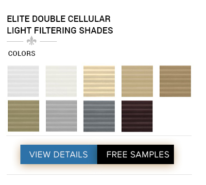 DISCOUNT ELITE DOUBLE CELLULAR LIGHT FILTERING SHADES