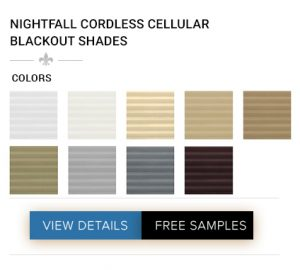 AFFORDABLE NIGHTFALL CORDLESS CELLULAR BLACKOUT SHADES