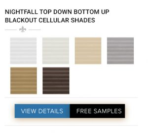 NIGHTFALL TOP DOWN BOTTOM UP BLACKOUT CELLULAR SHADES