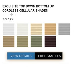 BUY EXQUISITE TOP DOWN BOTTOM UP CORDLESS CELLULAR SHADES