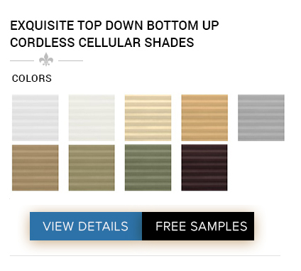 DISCOUNT EXQUISITE TOP DOWN BOTTOM UP CORDLESS CELLULAR SHADES